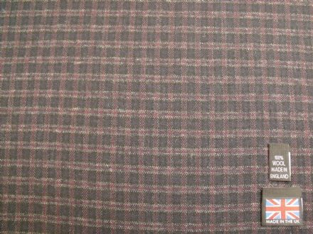 100% Wool Mini Check Design Fabric BZ02